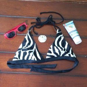 Women's Zebra Old Navy Bikini Top